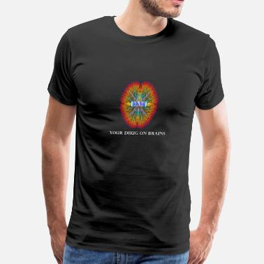 Dmt Molecule DMT your drug on brains - Men's Premium T-Shirt