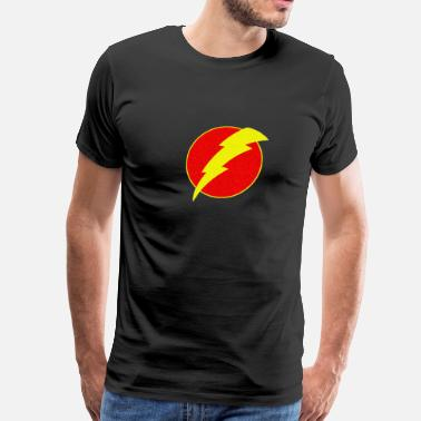 Superhero Flash Bolt Retro lightning - Men's Premium T-Shirt