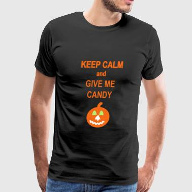 Halloween -Keep Calm  - Men's Premium T-Shirt