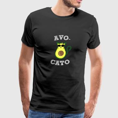 Fruits Quotes Avocato - Avocado - Vegan - Cat - Vegetarian - Men's Premium T-Shirt