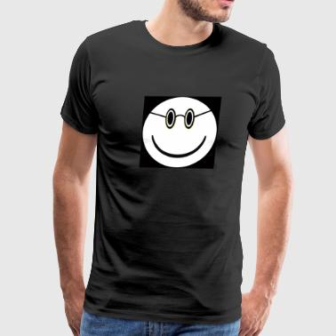 4 Eyes happy face 4 eyes - Men's Premium T-Shirt