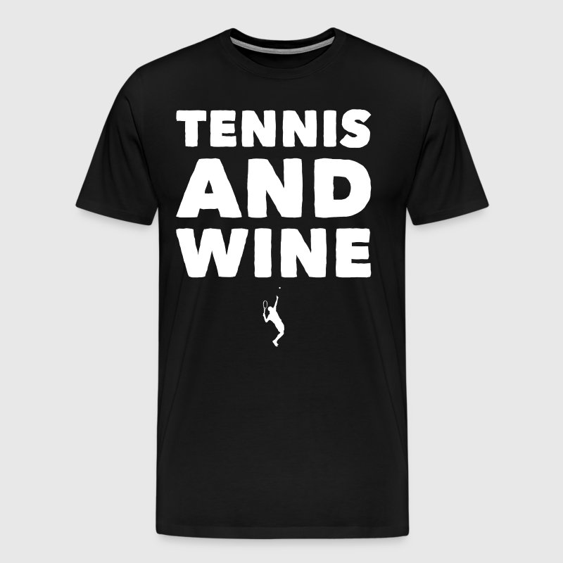 Tennis and wine - Men's Premium T-Shirt