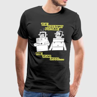 The distant future Robot Newborn - Men's Premium T-Shirt