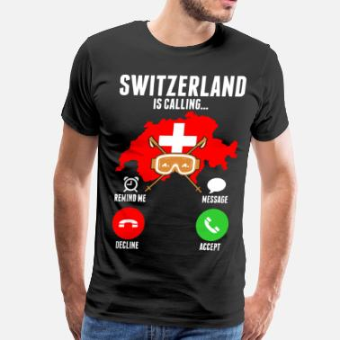 Call Of Cthulhu Switzerland Is Calling - Men's Premium T-Shirt