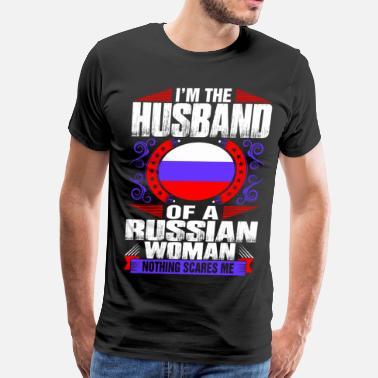 0024b59003 Im Russian Woman Husband - Men s Premium T-Shirt