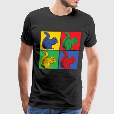 Ice Pop Pop art squirrel - Men's Premium T-Shirt