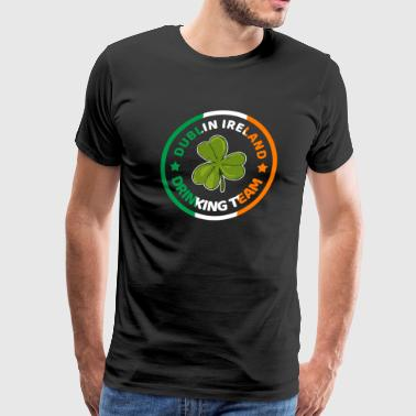 Dublin Ireland shamrock flag - Men's Premium T-Shirt