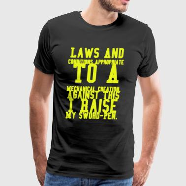 Surprise Laws To A Mechanical Creation T-shirt - Men's Premium T-Shirt