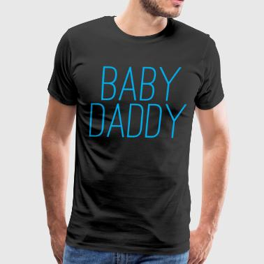 Baby Daddy Happy Fathers Day - Men's Premium T-Shirt