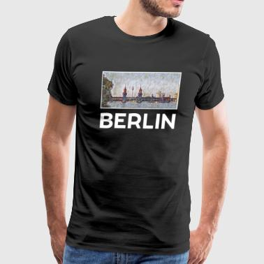 Berlin Skyline Berlin City Skyline Sights Silhouette Landmark - Men's Premium T-Shirt