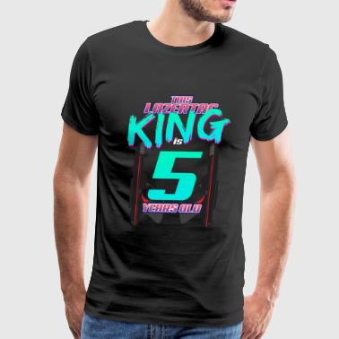 Lasertag - This King Is 5 Years Old - Men's Premium T-Shirt