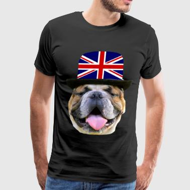 english bulldog,watchdog - Men's Premium T-Shirt
