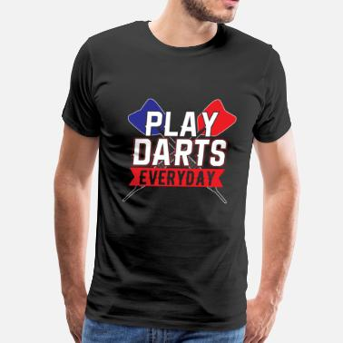 Darts Funny Darts - Men's Premium T-Shirt