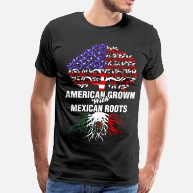 Mexican Girlfriend American Grown With Mexican Roots - Men's Premium T-Shirt