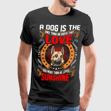 A Dog Is The Love German Shepherd - Men's Premium T-Shirt