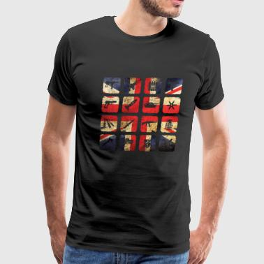 Great Britain Flag England London Military - Men's Premium T-Shirt