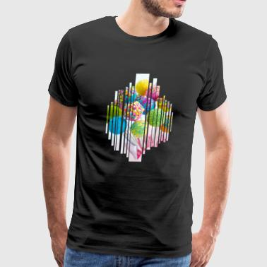 Lollipop lolly sugar colorful nibble gift sweet - Men's Premium T-Shirt