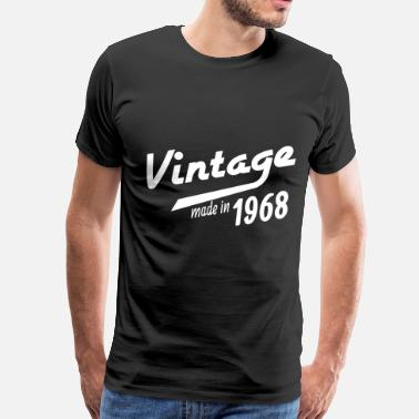 50 Plus 1968 birth day birthday gift idea born in date - Men's Premium T-Shirt