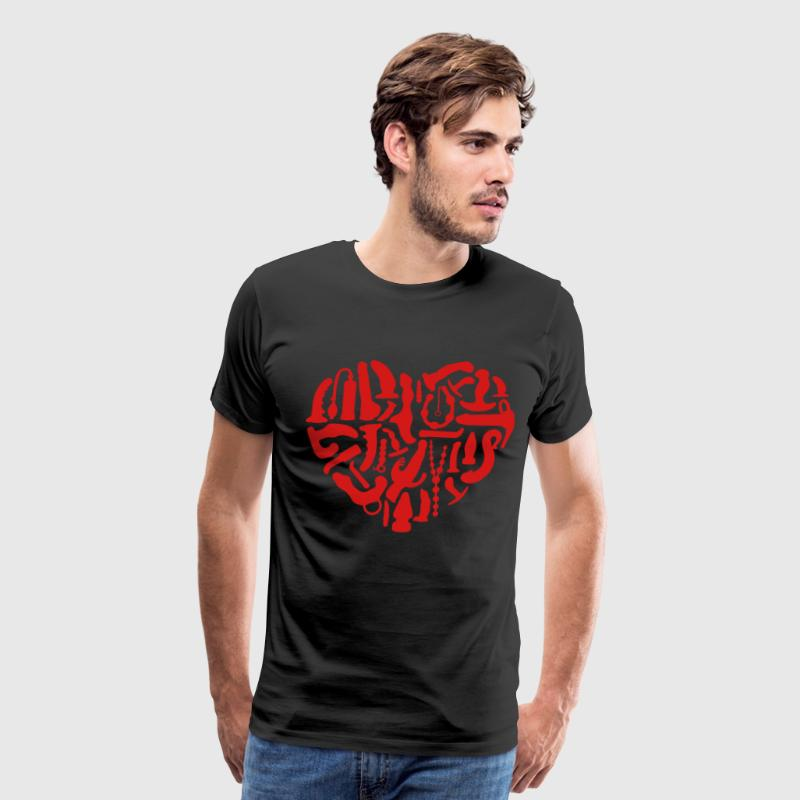 Kinky Sex Tools Heart - Men's Premium T-Shirt