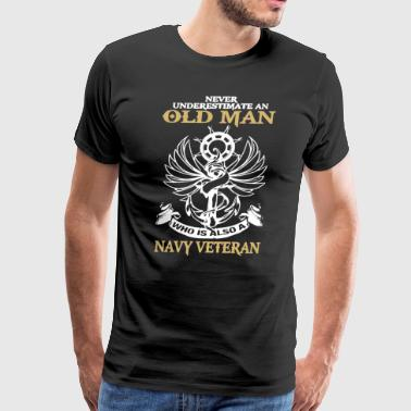 Navy Veteran Old Man Shirt - Men's Premium T-Shirt