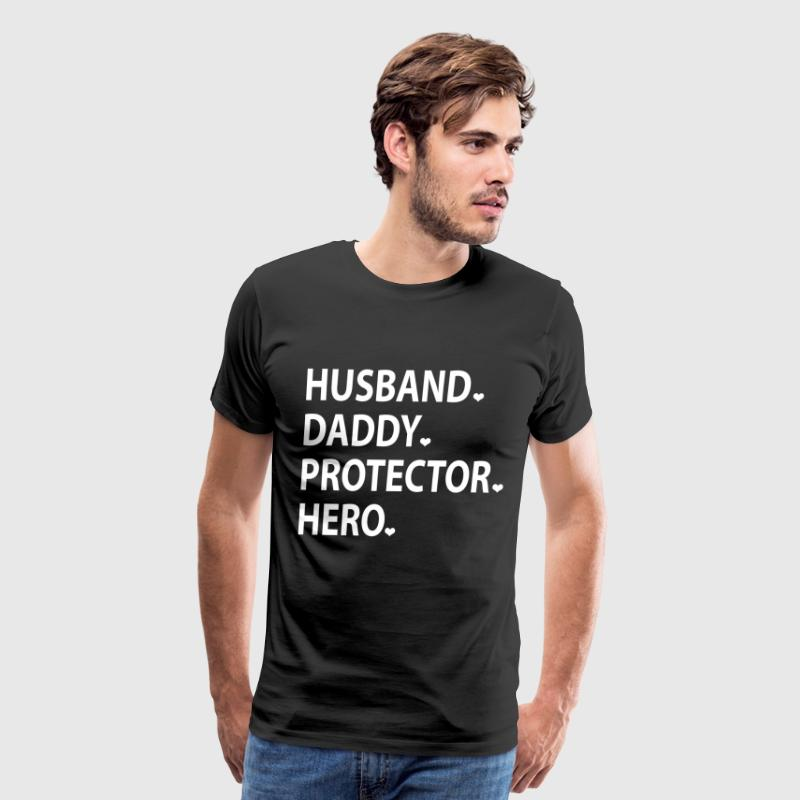 Husband Daddy Protector Hero - Men's Premium T-Shirt