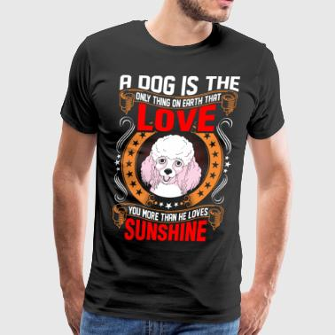 A Dog is The Love Poodle - Men's Premium T-Shirt