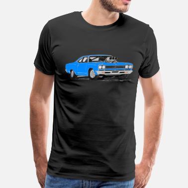 c26271c1 1969 Plymouth Roadrunner 69 Plymouth Road Runner 4 - Men's Premium T-Shirt