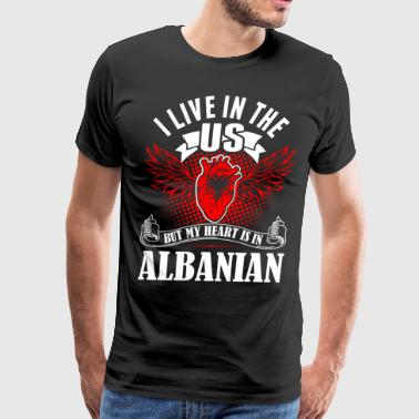 My Heart Is In Albanian - Men's Premium T-Shirt