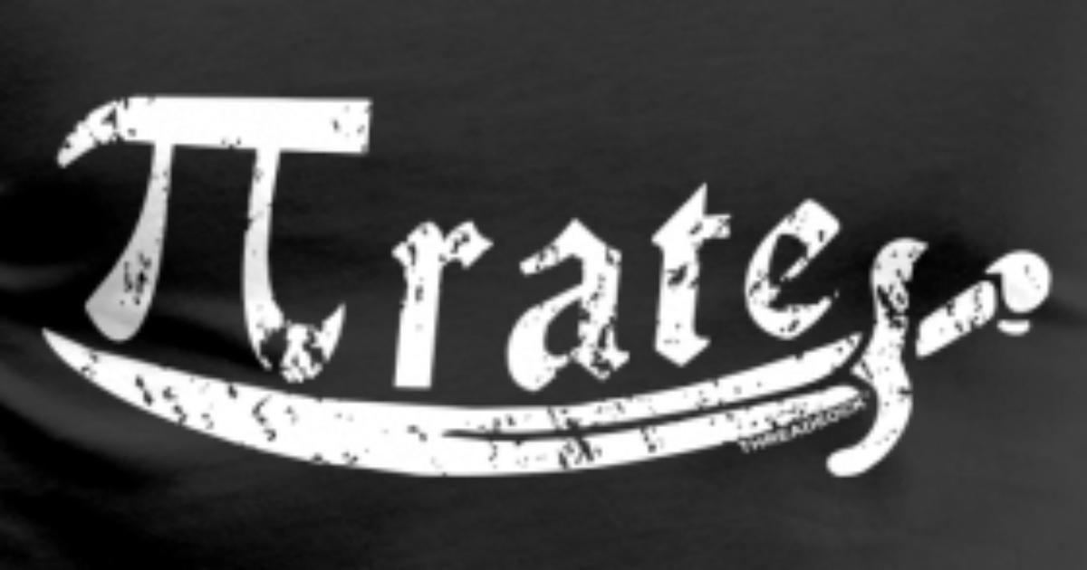 Threadrock Pi Symbol Pirate Math Pi By Kennethward Spreadshirt