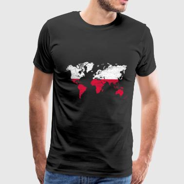 World map Poland - Men's Premium T-Shirt