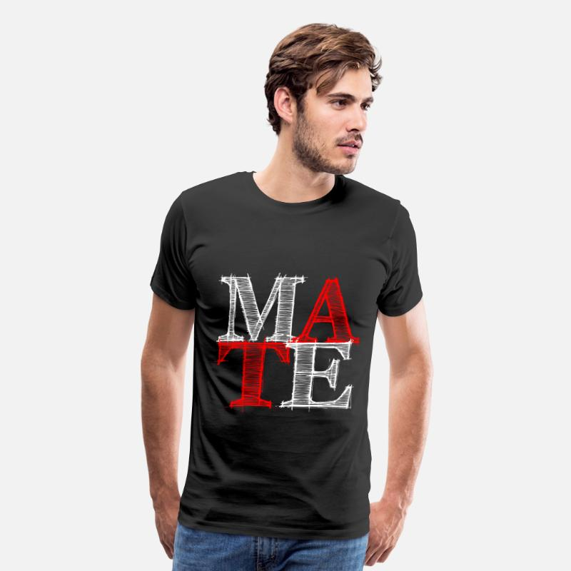 Couples T-Shirts - mate - Me - Men's Premium T-Shirt black