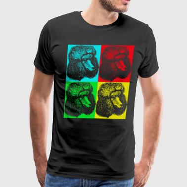 POODLE POP ART SHIRT - Men's Premium T-Shirt