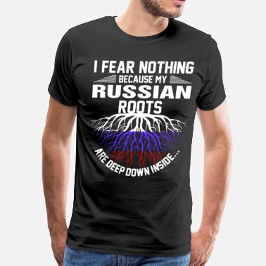 Russian Roots Russian Roots Are Deep Down Inside - Men's Premium T-Shirt
