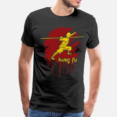 Karate Kanji Kung Fu Bo Staff Martial Arts - Men's Premium T-Shirt