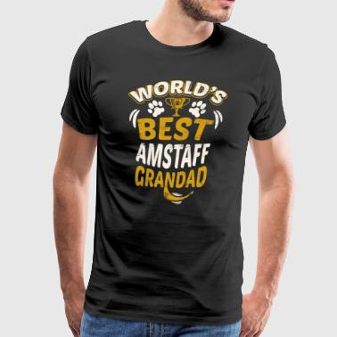World's Best AmStaff Grandad - Men's Premium T-Shirt