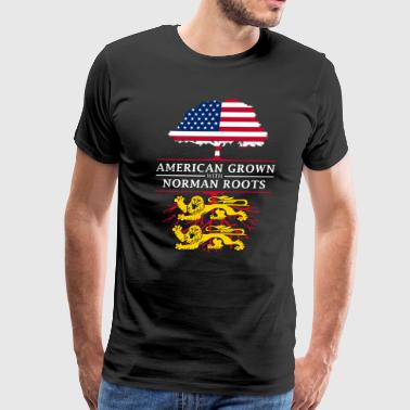 American Grown with Normandy Roots - Men's Premium T-Shirt