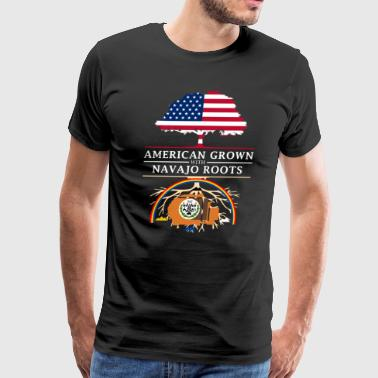 American Grown with Navajo Roots - Men's Premium T-Shirt