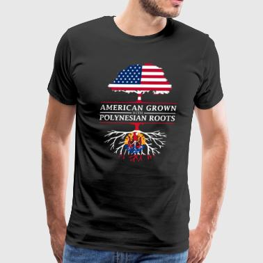 American Grown with French Polynesian Roots French Polynesia Design - Men's Premium T-Shirt