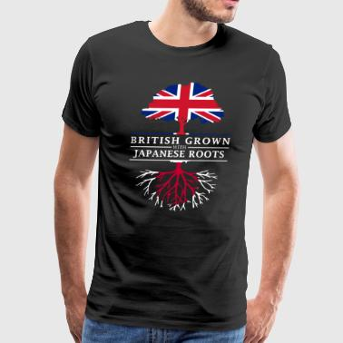 British Grown with Japanese Roots Japan Design - Men's Premium T-Shirt