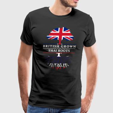 British Grown with Thai Roots Thailand Design - Men's Premium T-Shirt