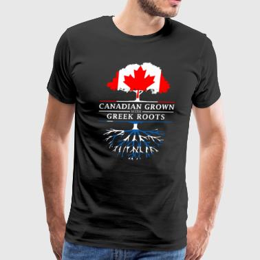 Canadian Grown with Greek Roots Greece Design - Men's Premium T-Shirt