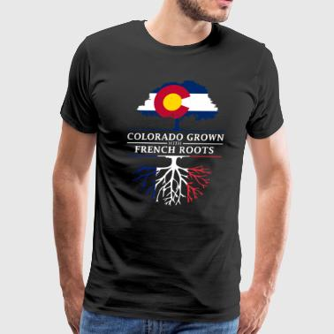 Colorado Grown with French Roots France Design - Men's Premium T-Shirt