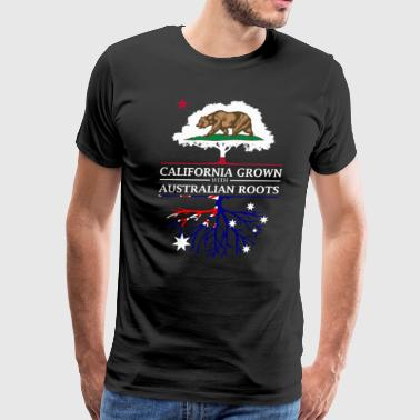 Australia Day California Grown with Australian Roots - Men's Premium T-Shirt