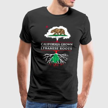 Lebanese California Grown with Lebanon Roots - Men's Premium T-Shirt