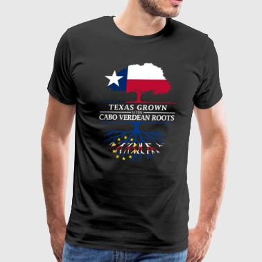 Flag Of Texas Texan Grown with Cape Verdean Roots - Men's Premium T-Shirt
