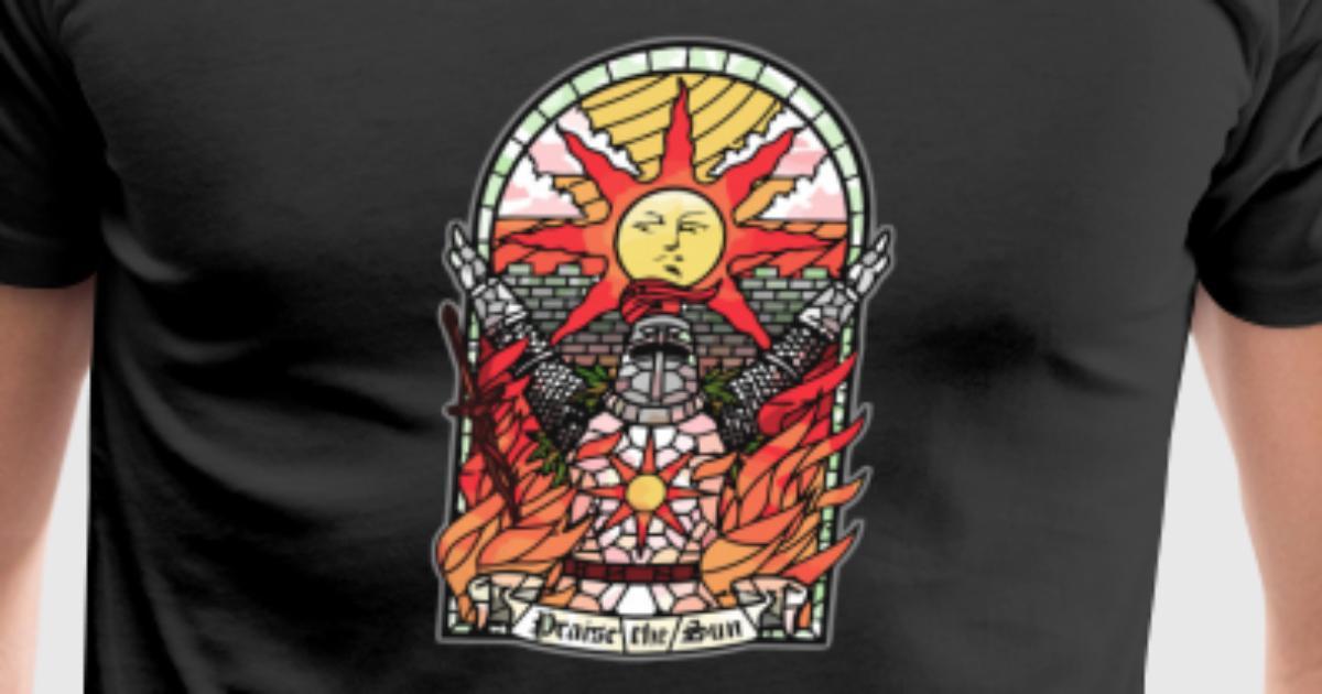 Church of the sun t shirt spreadshirt for Sun t shirts sunland california