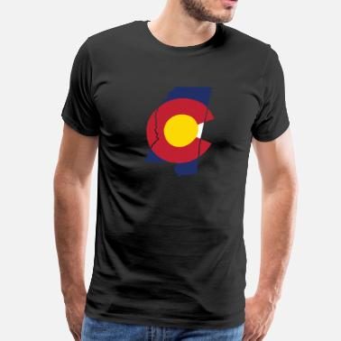 Cute Mississippi Apparel Mississippi Colorado Funny Pride Flag Apparel - Men's Premium T-Shirt