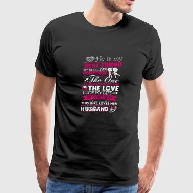 Husband - My husband is my best friend - Men's Premium T-Shirt