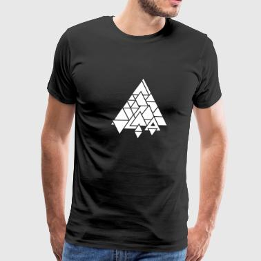 abstract graphic triangle - Men's Premium T-Shirt