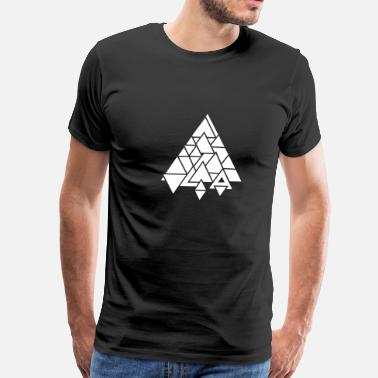 Graphic Abstract abstract graphic triangle - Men's Premium T-Shirt